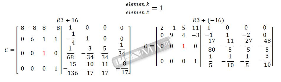 Invers Matriks 4x4 Metode OBE Kunci K10