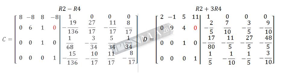 Invers Matriks 4x4 Metode OBE Kunci K11