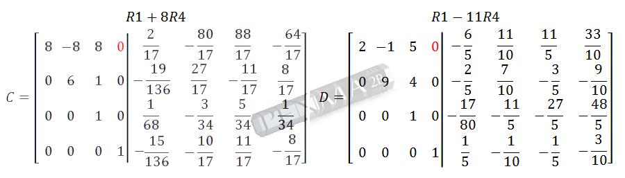 Invers Matriks 4x4 Metode OBE Kunci K12