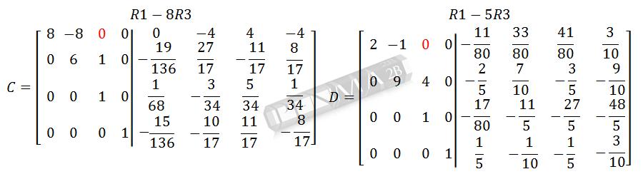 Invers Matriks 4x4 Metode OBE Kunci K13