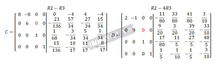 Invers Matriks 4x4 Metode OBE Kunci K14