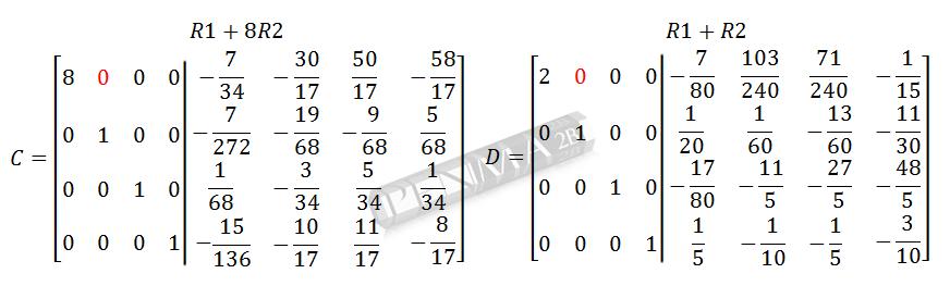Invers Matriks 4x4 Metode OBE Kunci K16