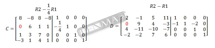 Invers Matriks 4x4 Metode OBE Kunci K2