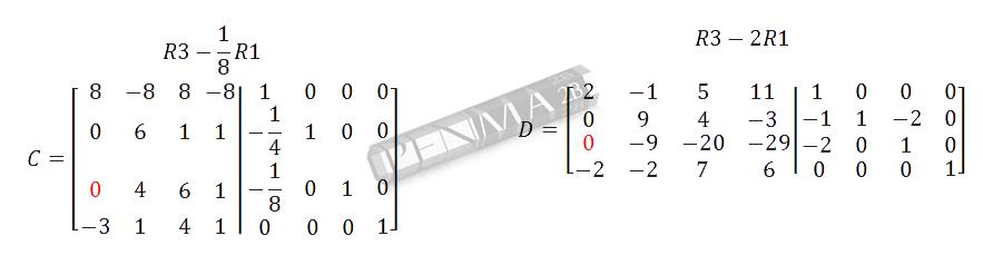 Invers Matriks 4x4 Metode OBE Kunci K3