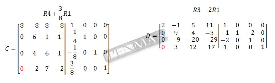 Invers Matriks 4x4 Metode OBE Kunci K4