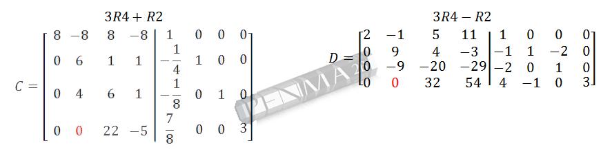 Invers Matriks 4x4 Metode OBE Kunci K5