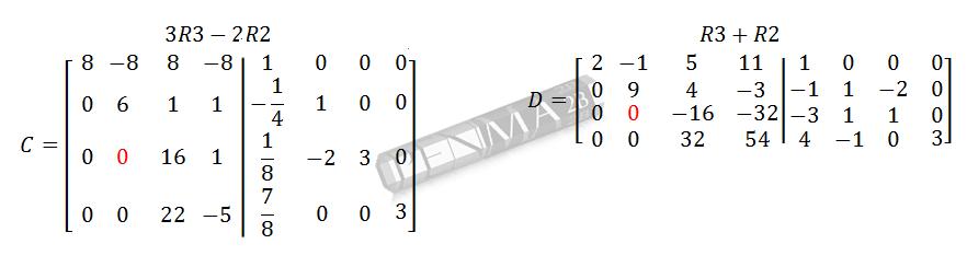 Invers Matriks 4x4 Metode OBE Kunci K6