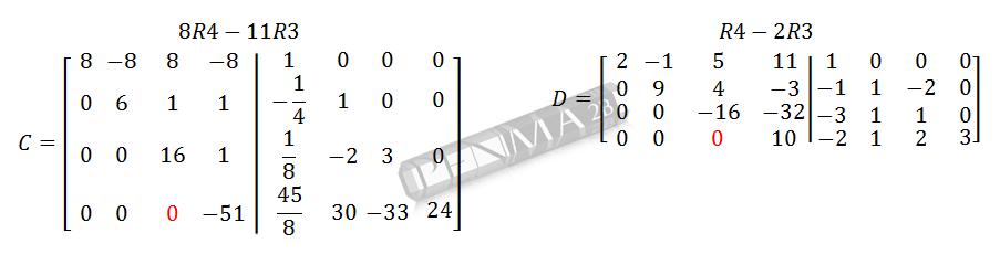Invers Matriks 4x4 Metode OBE Kunci K7