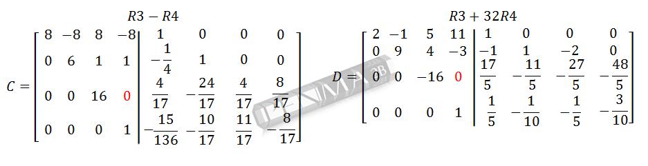 Invers Matriks 4x4 Metode OBE Kunci K9