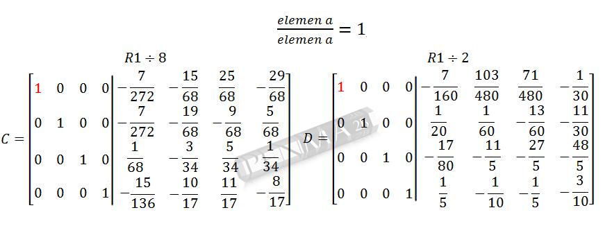 Invers Matriks 4x4 Metode OBE Kunci K17