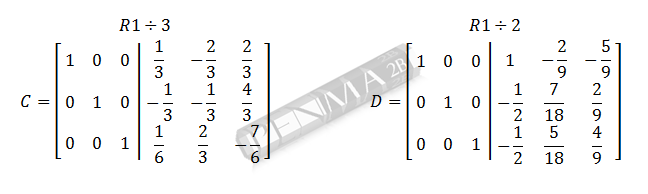 invers matriks 3x3 metode obe gancu dan kunci 10