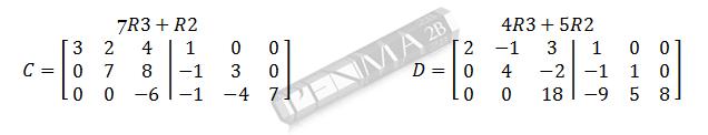 invers matriks 3x3 metode obe gancu dan kunci 4
