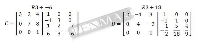 invers matriks 3x3 metode obe gancu dan kunci 5