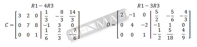 invers matriks 3x3 metode obe gancu dan kunci 6