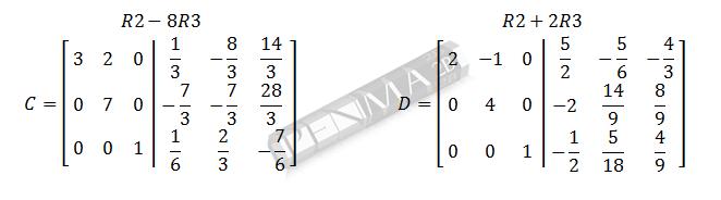 invers matriks 3x3 metode obe gancu dan kunci 7