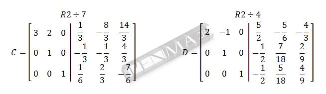 invers matriks 3x3 metode obe gancu dan kunci 8