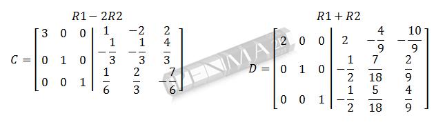 invers matriks 3x3 metode obe gancu dan kunci 9
