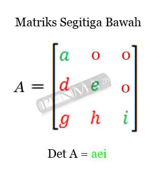 determinan matriks3x3 matriks segitiga bawah