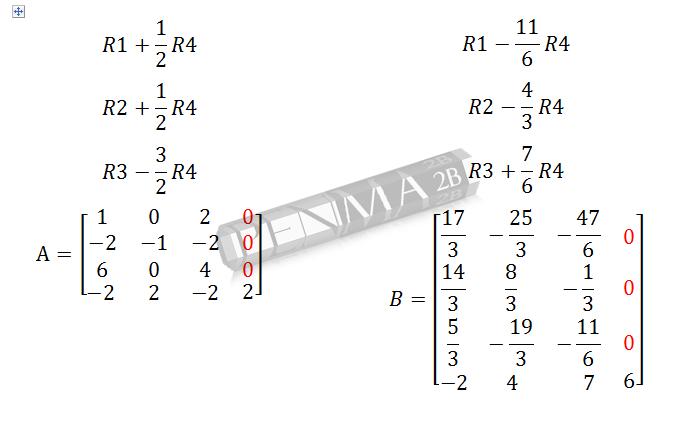 determinan matriks 4x4 metode OBE langkah 1