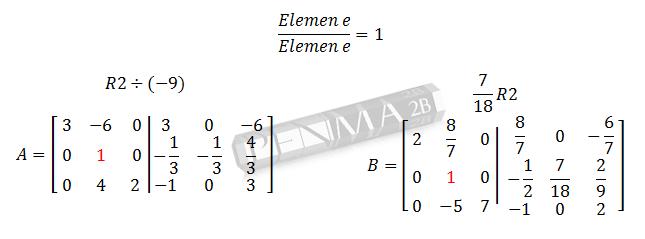 Invers Matriks 3x3 Metode OBE Ganjil 4
