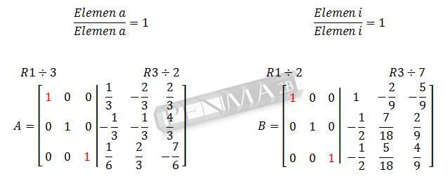 Invers Matriks 3x3 Metode OBE Ganjil6
