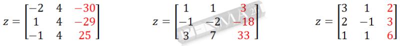 SPL 3 variabel metode Cramer