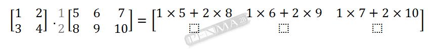 Perkalian Matriks 2x2 dengan 2x3 Baris 1