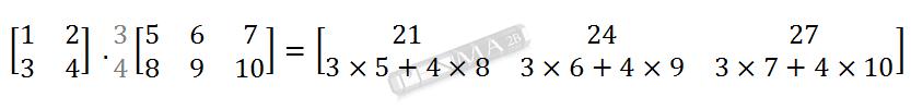 Perkalian Matriks 2x2 dengan 2x3 Baris 2