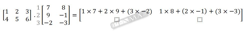 Perkalian Matriks 2x3 dengan 3x2 Baris 1