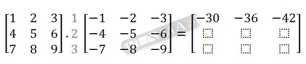Perkalian Matriks 3x3 dengan 3x3 Baris 1