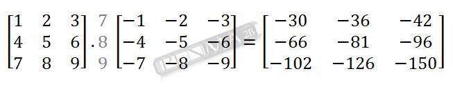 Perkalian Matriks 3x3 dengan 3x3 Baris 3