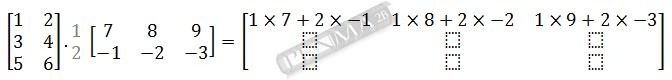 Perkalian Matriks 3x2 dengan 2x3 Baris 1