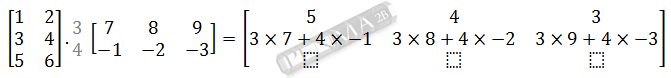Perkalian Matriks 3x2 dengan 2x3 Baris 2